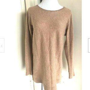 Halogen Wool Cashmere Blend Beige Sweater M